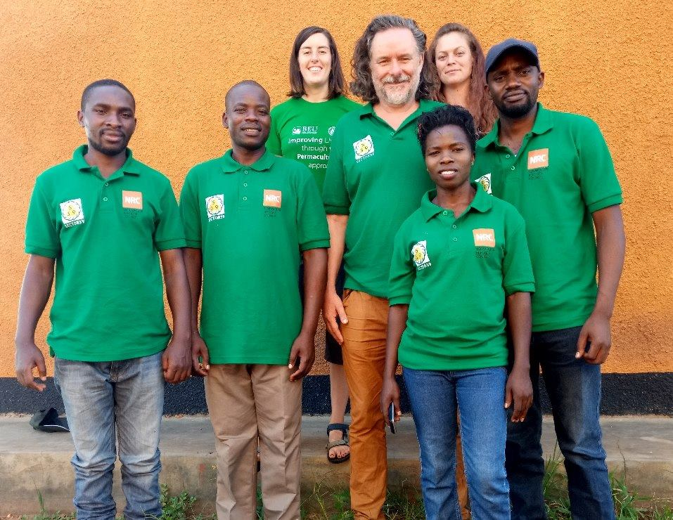 Sector39 training team working with Norwegian refugee council with refugees from South Sudan who have decided to stay in Uganda as small farmers. 2018