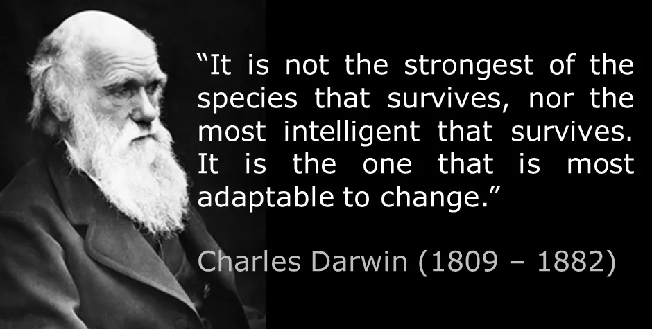 Charles Darwin gave us vast insight in the natural world the realization that all species in some way co-operative and are interlinked, ultimately coming from a common origin.