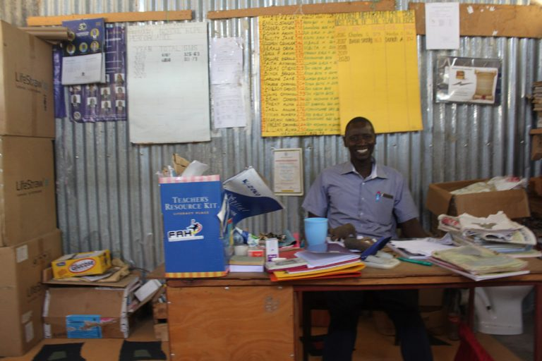 Bernard at his desk