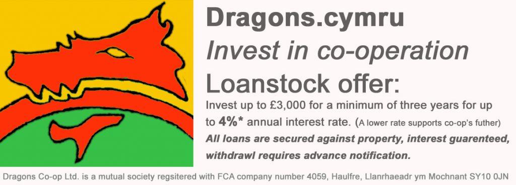 loanstock advert, Dragons co-op