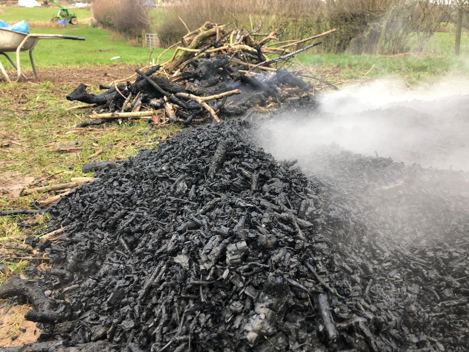 bonfire biochar