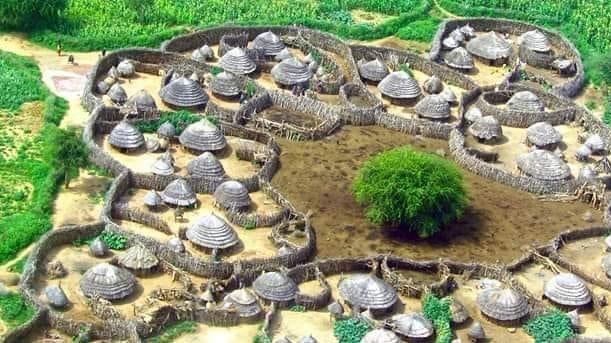 african village layout